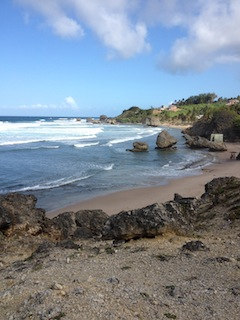 Bathsheba beach on the East coast of Barbados